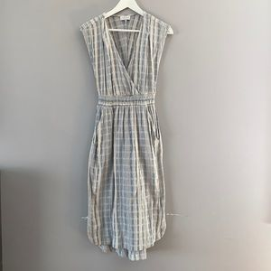 Lucky brand midi summer dress with pockets cotton